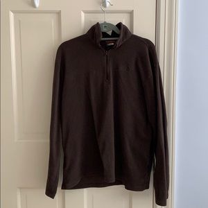 North Face Brown Pullover Fleece